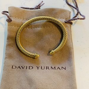 David Yurman 18k yellow gold 5mm cable bracelet